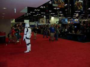 Imperial Stormtrooper on security duty